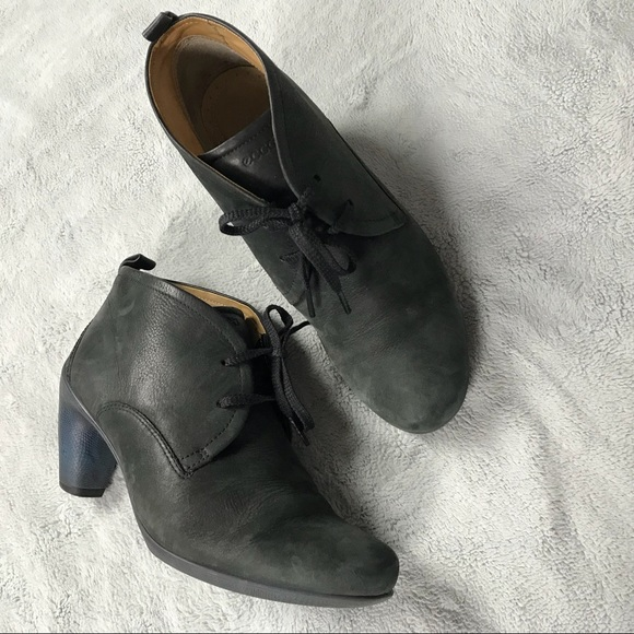 ecco lace up ankle boots